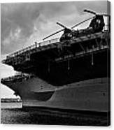 Uss Midway Helicopter Canvas Print