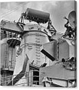 Uss Missouri- Radar System Canvas Print