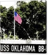 Uss Oklahoma Bb-37 Canvas Print
