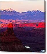 Utah Desert Sunset Panorama Canvas Print