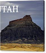Utah Landscape Factory Butte Canvas Print