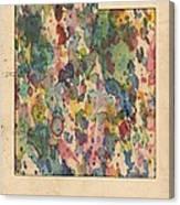 Utah Map Vintage Watercolor Canvas Print
