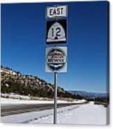 Utah Scenic Highway 12 In Snow Canvas Print