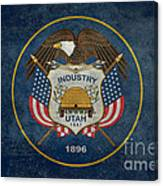 Utah State Flag Vintage Version Canvas Print