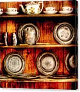 Utensils - In The Cupboard Canvas Print