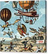 Utopian Flying Machines 19th Century Canvas Print