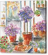 Uzes Market Canvas Print