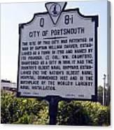 Va-q8i City Of Portsmouth Canvas Print
