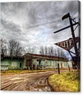 Vacancy At The Airport Motel Canvas Print
