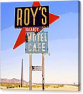 Vacancy Route 66 Canvas Print