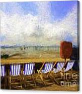 Vacant deckchairs  Canvas Print