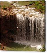 Vacation At Lower Navajo Falls Canvas Print