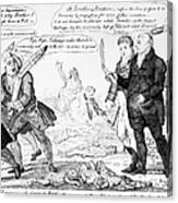 Vaccination Cartoon, 1808 Canvas Print