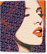 Vain Portrait Of A Woman Canvas Print