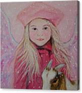 Valentina Little Angel Of Perseverance And Prosperity Canvas Print