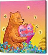 Valentine Baby Bear Canvas Print