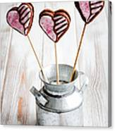 Valentine Cookie Pops Canvas Print