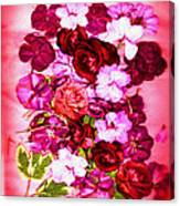 Valentine Flowers For You Canvas Print