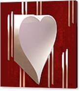 Valentine Paper Heart Canvas Print