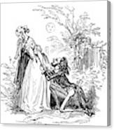 Valentines Day, 1855 Canvas Print