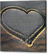 Valentine's Day - Sand Heart Canvas Print
