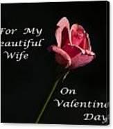Valentine's Day Wife Canvas Print