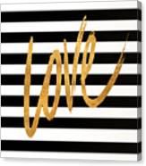 Valentines Stripes Iv Canvas Print