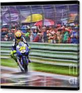 Valentino Rossi Fans Line The Fence Canvas Print