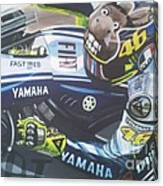 Valentino Rossi - The Doctor Canvas Print