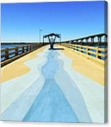 Valero Beach Fishing Pier Canvas Print