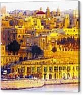Valletta Capital Of Malta Canvas Print