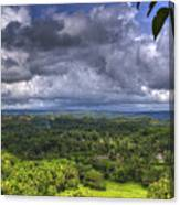 Valley At Chocolate Hills Canvas Print