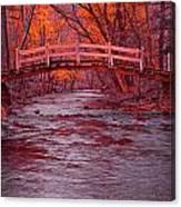 Valley Creek Bridge In Autumn Canvas Print