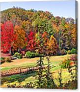Valley Farm In The Fall Canvas Print