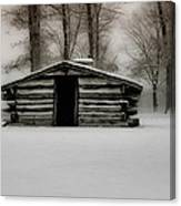 Valley Forge Cabin In Winter Canvas Print