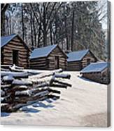 Valley Forge Cabins After A Snow Canvas Print