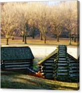 Valley Forge Cabins Canvas Print