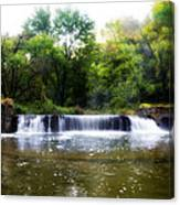 Valley Forge Pa - Valley Creek Waterfall  Canvas Print