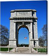 Valley Forge Park Memorial Arch Canvas Print