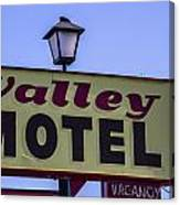 Valley Motel Canvas Print