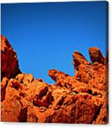 Valley Of Fire Nevada Desert Rock Lizards Canvas Print