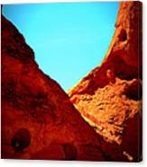 Valley Of Fire Nevada Desert Sand People Canvas Print