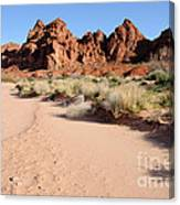Valley Of Fire Wash Canvas Print
