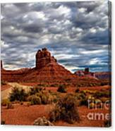 Valley Of The Gods Stormy Clouds Canvas Print