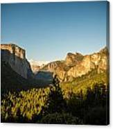 Valley Setting Canvas Print