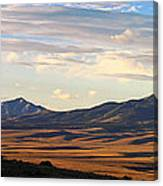 Valley Shadows Snowy Peaks Canvas Print