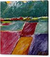 Valley Snow Canvas Print