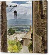 Valley View - Assisi Canvas Print