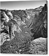 Valley View At Glacier Point Canvas Print