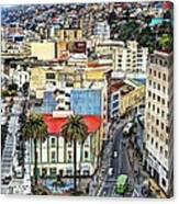 Valparaiso A Color Palette City Canvas Print